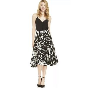LUCY PARIS -NWT Black White Floral Midi Skirt M